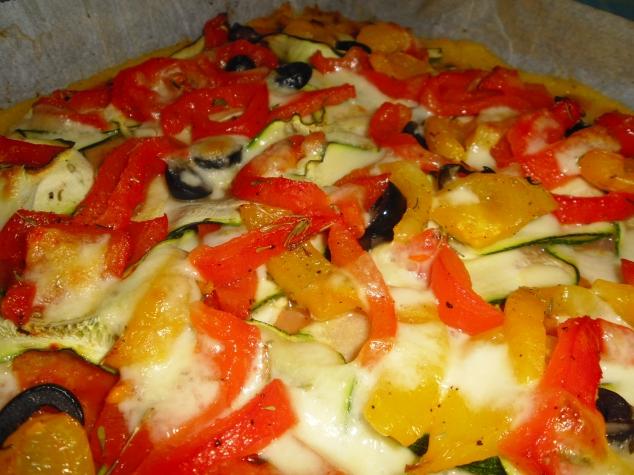 Pizza mit Paprika