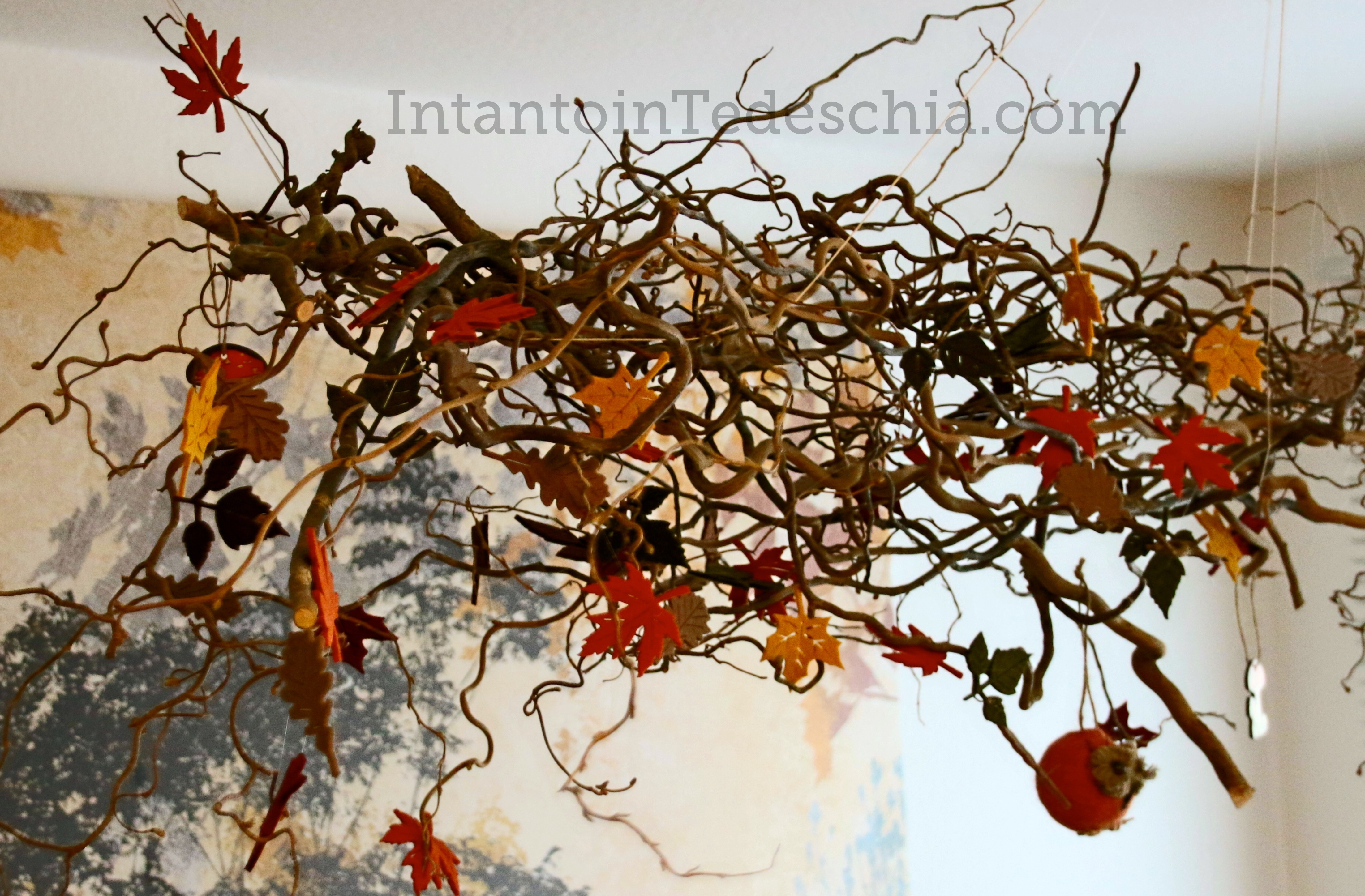 Herbstdeko e arrivato l autunno - Decorazioni autunnali per finestre ...
