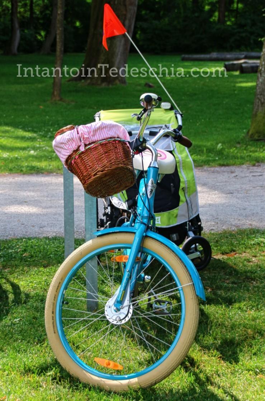 bicicletta parco cestino