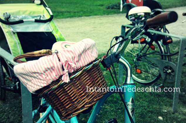 cestino vimini bicicletta