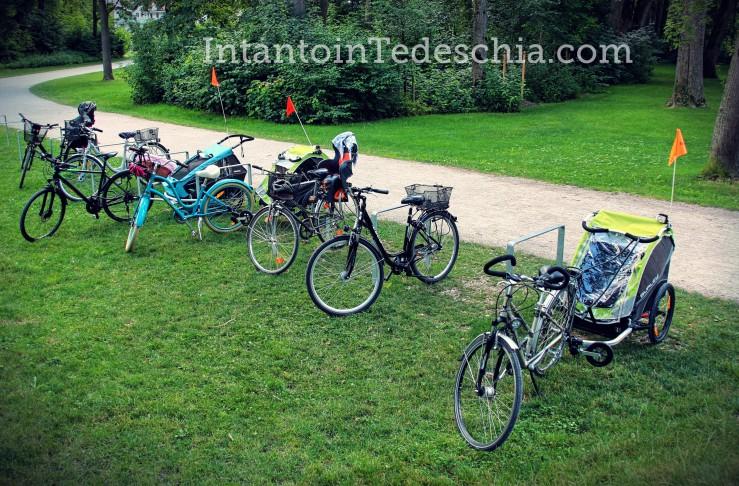 biciclette parco carrellino