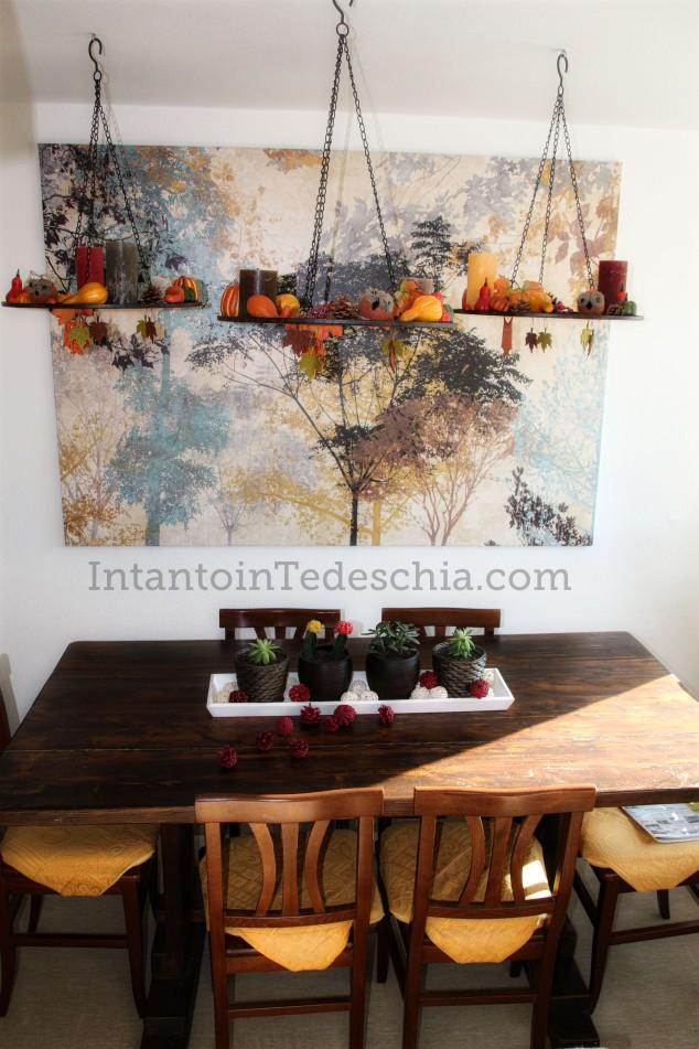 decorazioni autunno sospese per aria