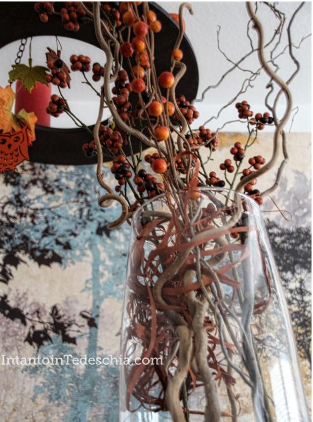 decorazioni autunno vaso