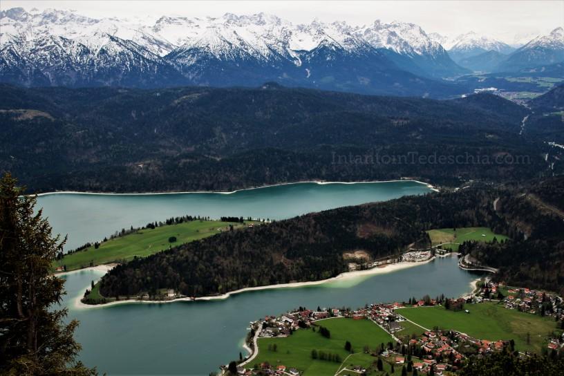 Baviera Alpi Bavaresi Turismo Camminare Montagna Herzogstand Walchensee