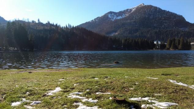 Spitzingsee baviera camminare alpi germania confine